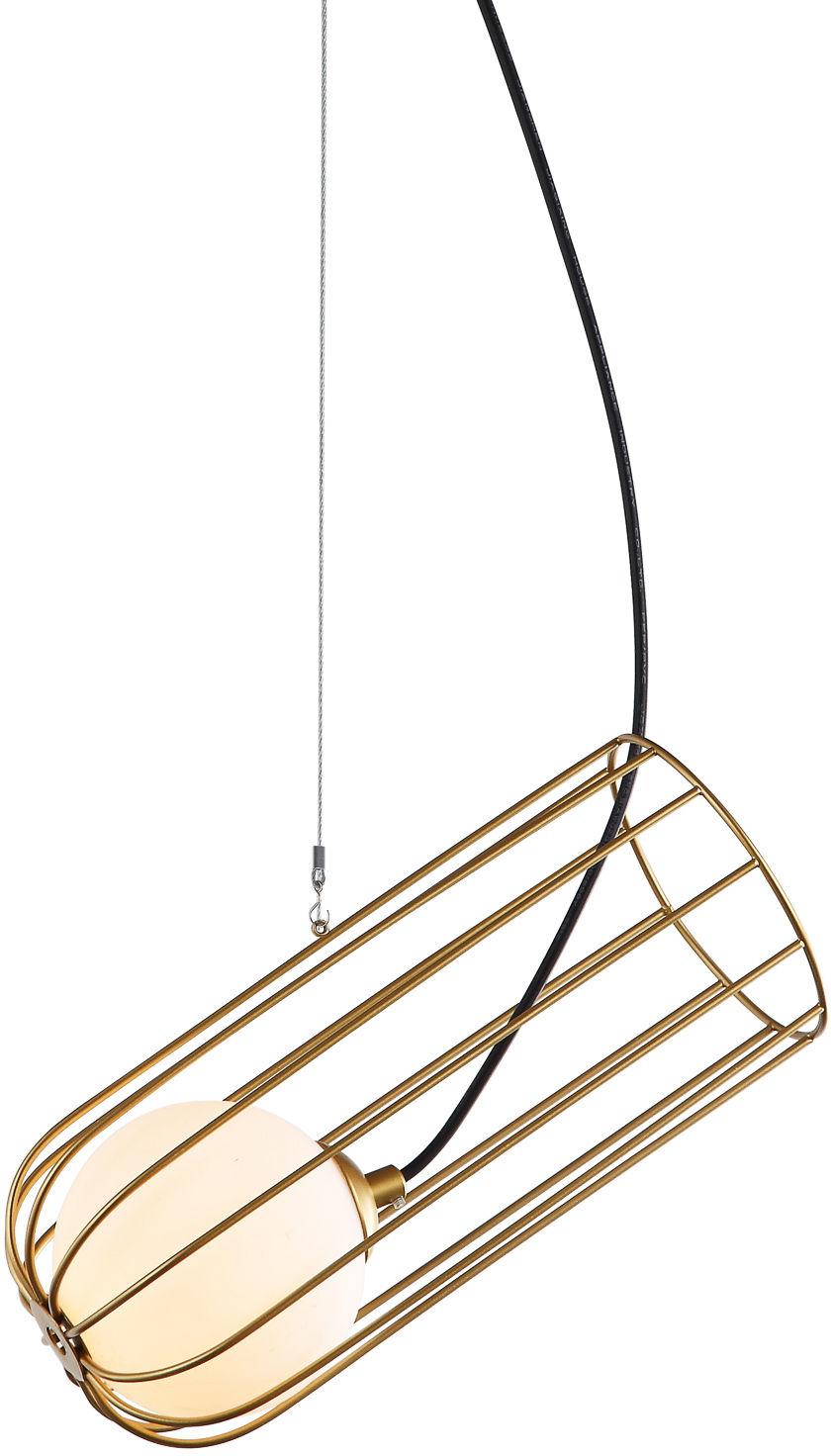 Italux lampa wisząca Coco MDM-3941/1 GD złota z szklanym kloszem 11,7cm
