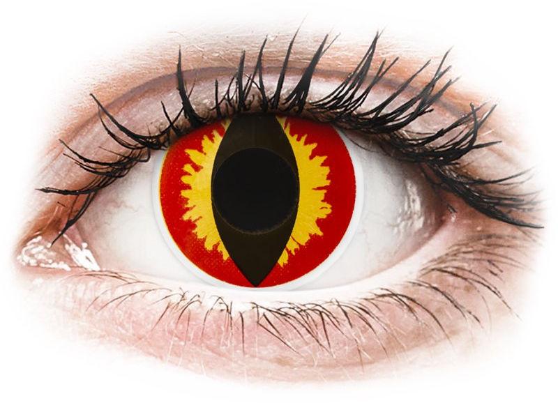 ColourVUE Crazy Lens - Dragon Eyes - jednodniowe zerówki