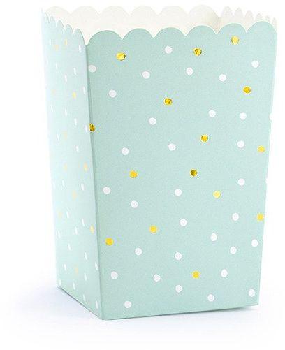 Pudełka na popcorn słodycze Kaktus 7 x 7 x 12 cm 6 sztuk POP8