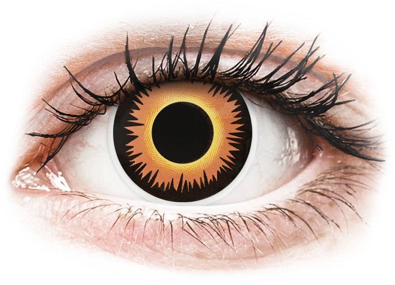 ColourVUE Crazy Lens - Orange Werewolf - jednodniowe zerówki