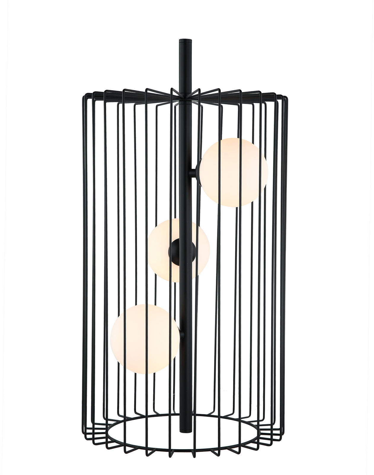 Italux lampa stołowa Hayden MTM-3935/3 BK czarna druciana szklane klosze 31cm