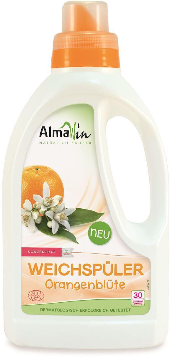 Płyn do płukania i zmiękczania tkanin pomarańczowy eco 750 ml - almawin