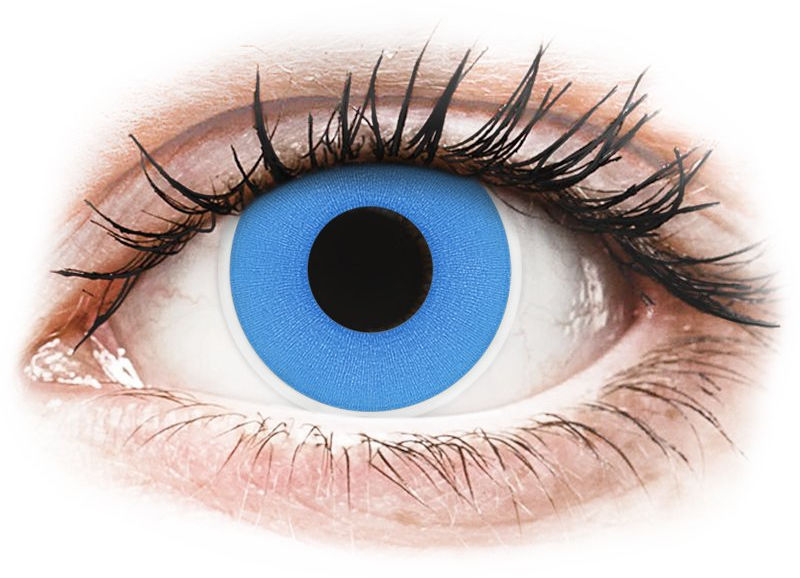 ColourVUE Crazy Lens - Sky Blue - jednodniowe zerówki