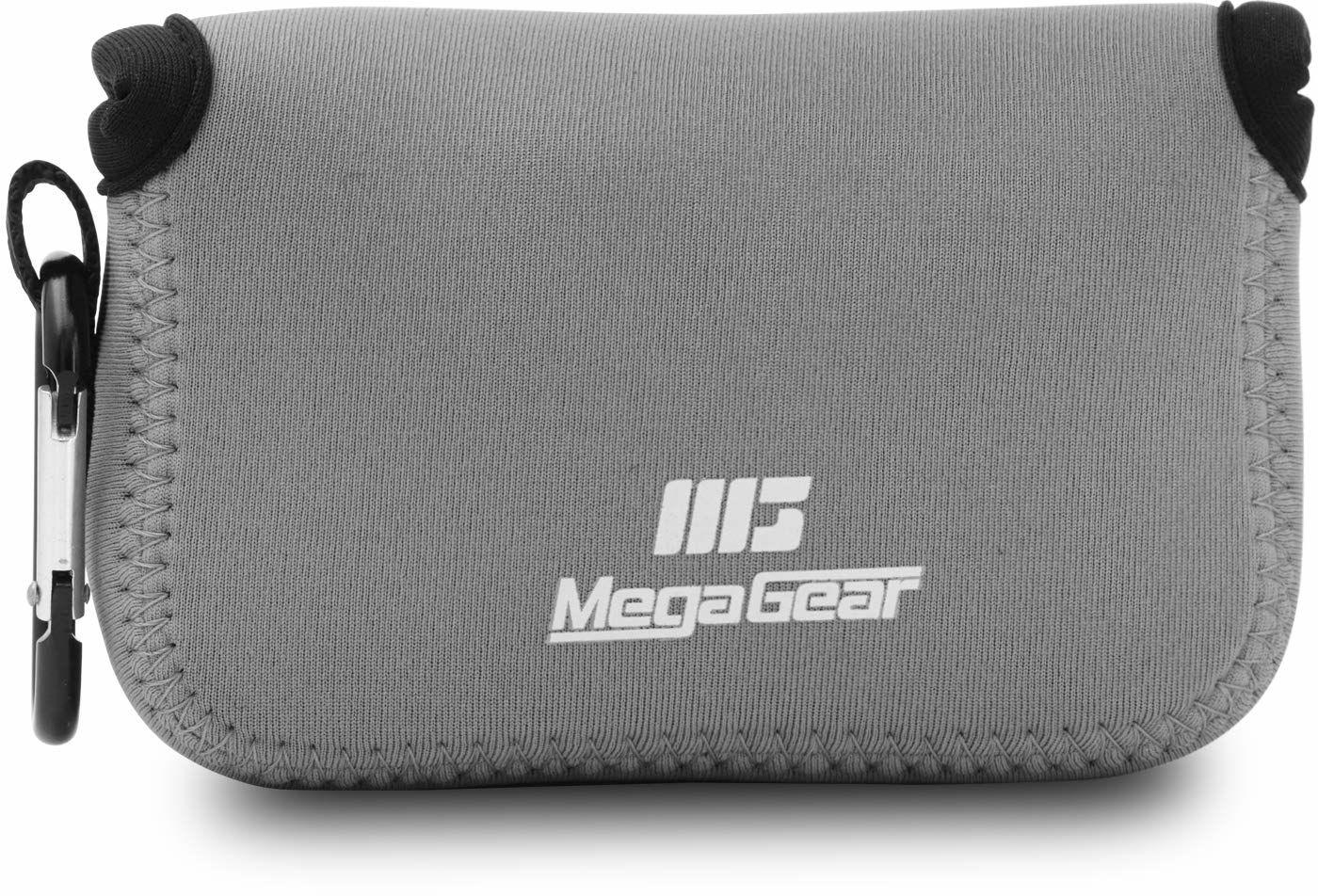 MegaGear ''Ultra Light'' neoprenowa obudowa na aparat torba z karabińczykiem do Canon PowerShot SX720 HS, SX610 HS, SX600 HS (szary)