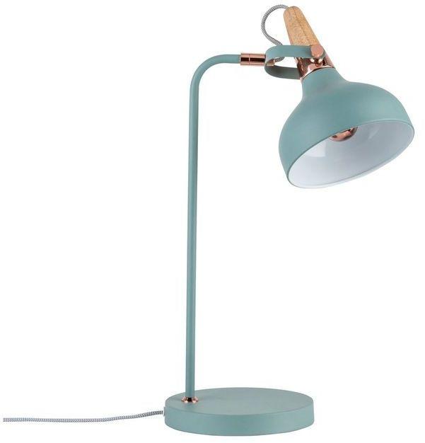 Lampka biurkowa Neordic Juna 1x20W E14 ziel/miedz/drewno 230V met/drewno  PL79651