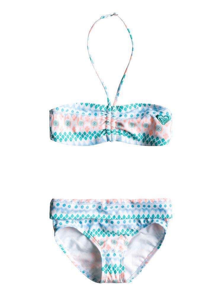 dwuczęściowy strój kąpielowy dla dzieci ROXY DRAWSTRING BANDEAU SET BLK7
