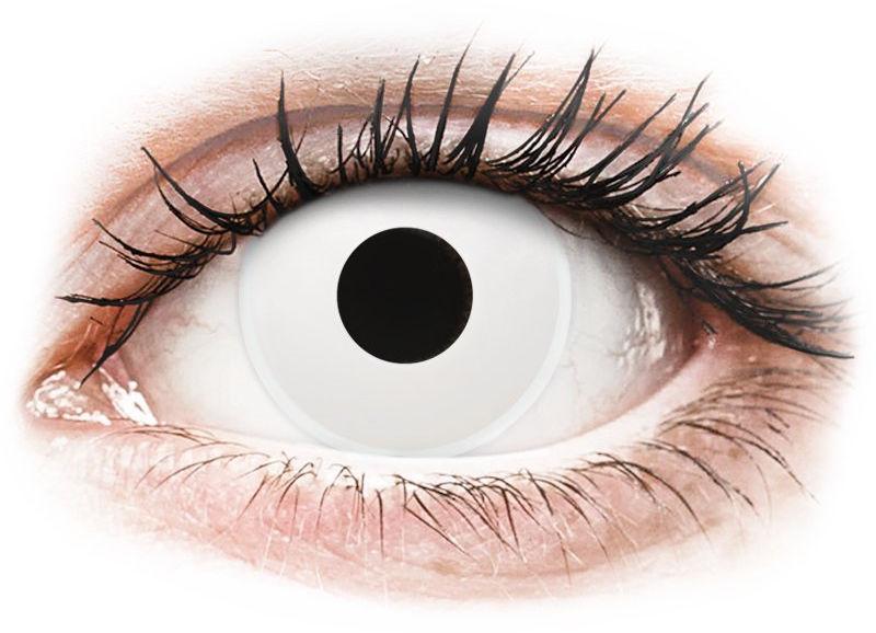 ColourVUE Crazy Lens - Whiteout - jednodniowe zerówki