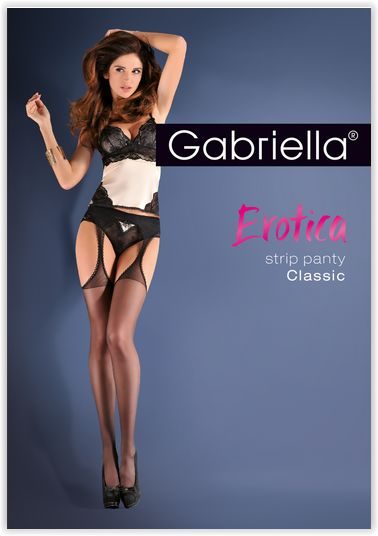 Bielizna-Rajstopy Strip Panty EROTICA STRIP PANTY CLASIC Czarne S/M