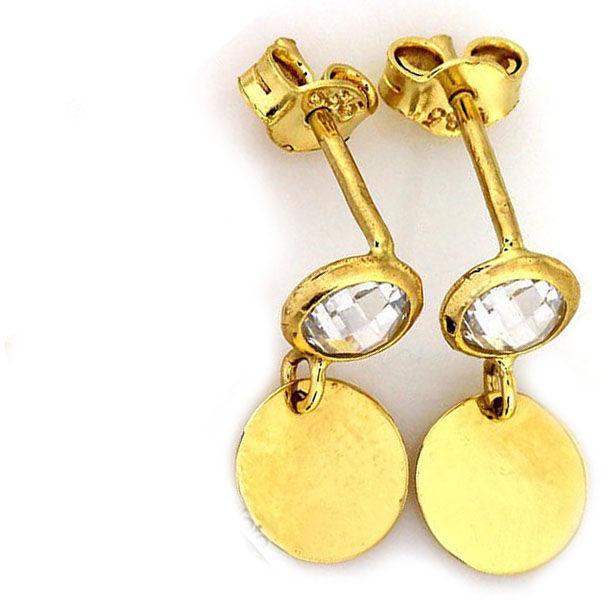Złote kolczyki 585 kółka celebrytki na sztyft