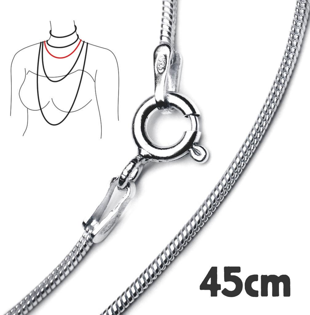 Kuźnia Srebra - ŁAŃCUSZEK SREBRNY - Linka okrągła 1,2, dł. 45cm, 5g, model