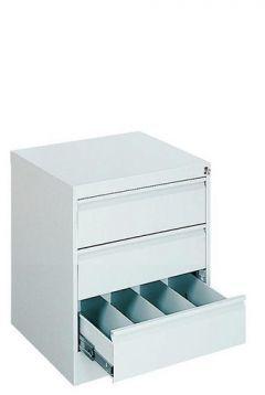 Metalowa szafa kartotekowa do biura SZK 115 z 3 szufladami-52 cm