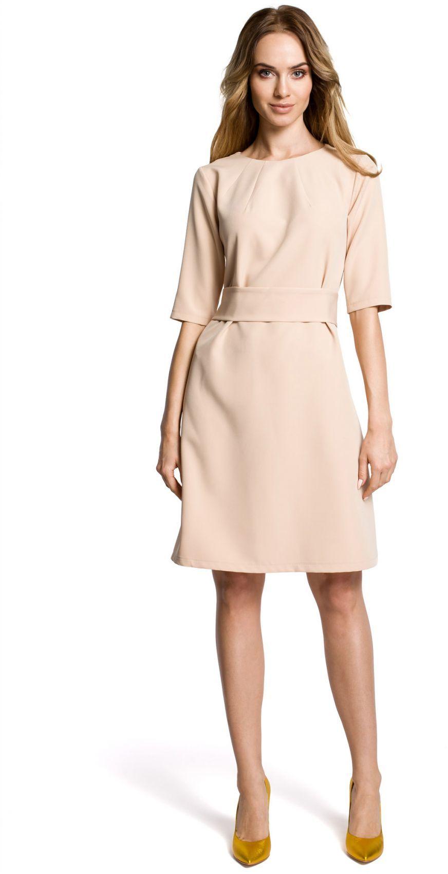 M362 sukienka beż
