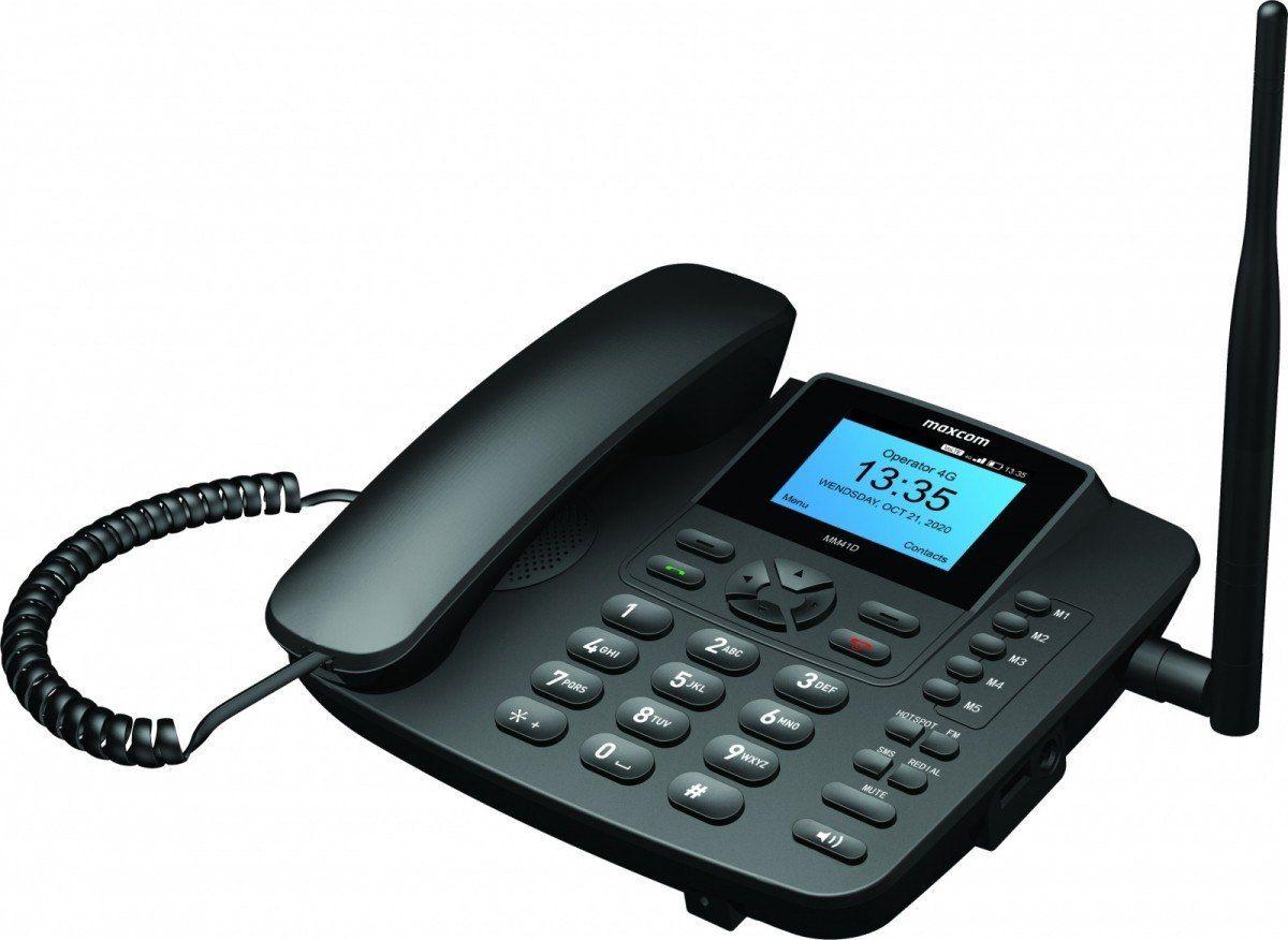 Maxcom Telefon stacjonarny na karte SIM MM 41D 4G VOLTE VOWiFi