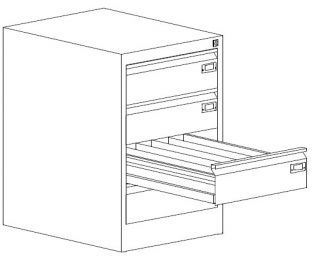 Metalowa szafa kartotekowa do biura SZK 117 do 5 rzędów