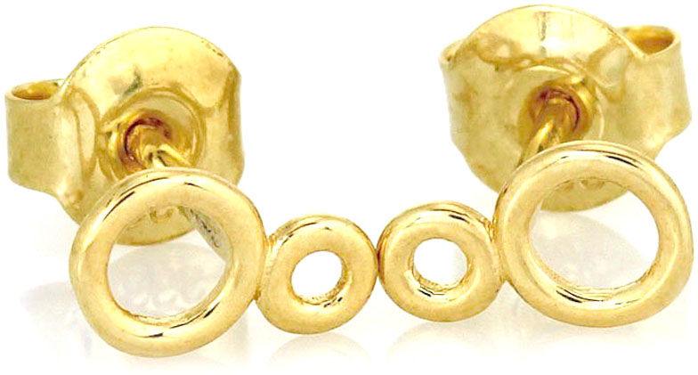 Złote kolczyki 585 kółeczka ósemki infinity