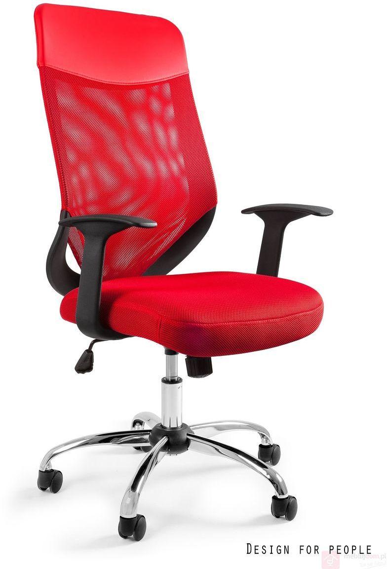 Fotel biurowy MOBI PLUS Unique Czerwony  Zapytaj o RABAT!