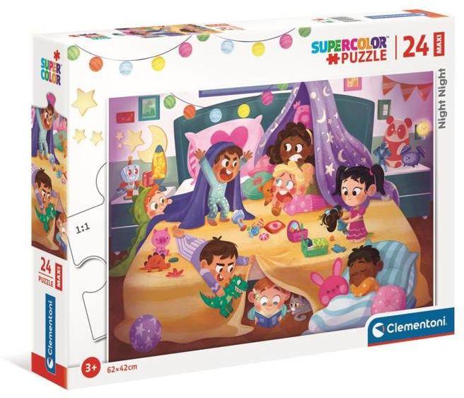 Puzzle 24 maxi super color Nocna pora 24213 - Clementoni