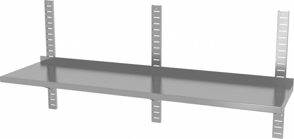 Półka wisząca przestawna pojedyncza z trzema konsolami szer: 1600 - 2000mm gł: 300mm