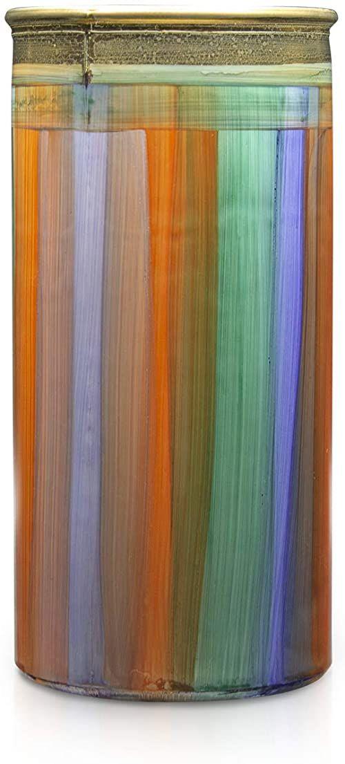 Angela Neue Wiener Werkstätte Wazon cylindryczny shabby niebieski morski wazony z kolorowego szkła, niebieski, 10 cm