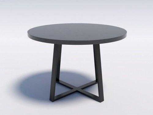 Industrialny stół okrągły RING X 110 Wytrawny szary kamień