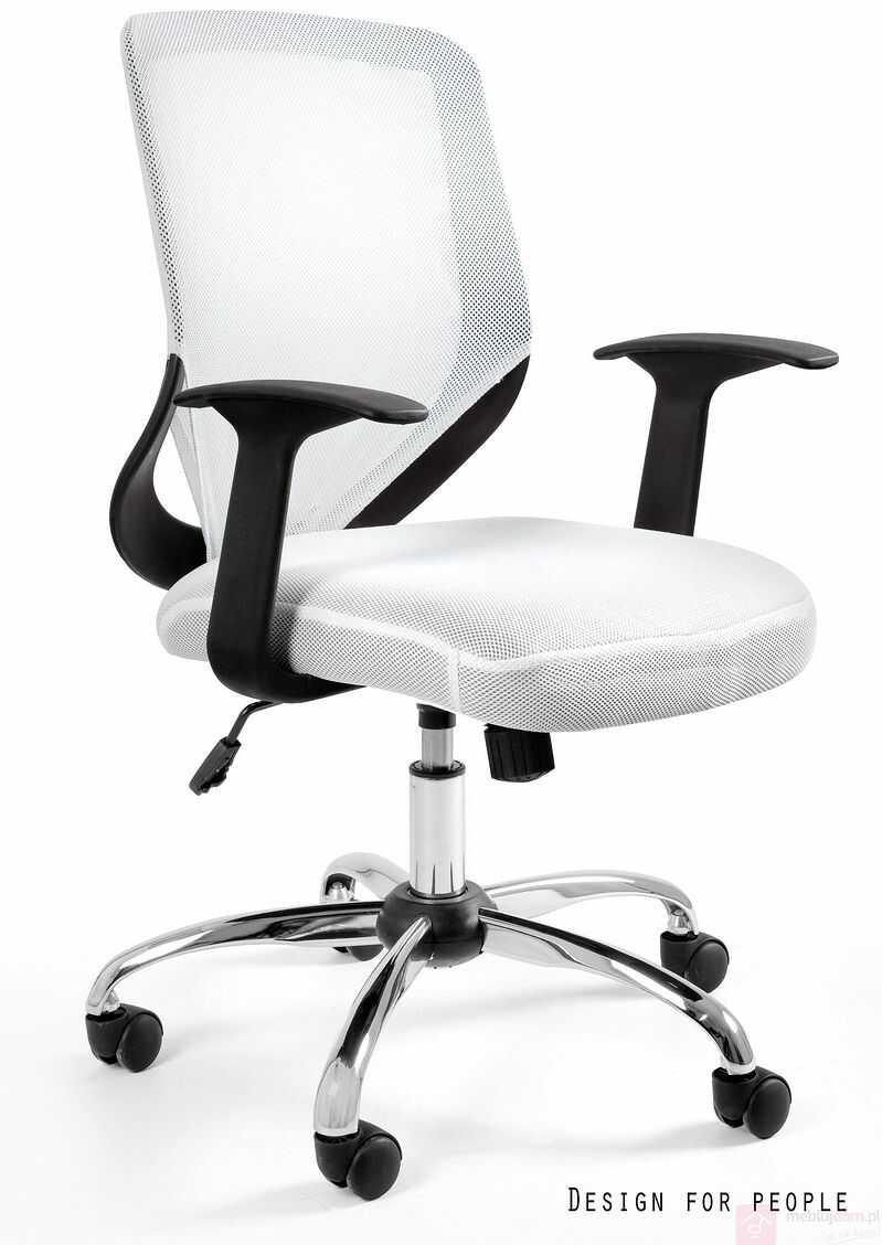 Fotel biurowy MOBI Unique Biały  RABAT na stronie!