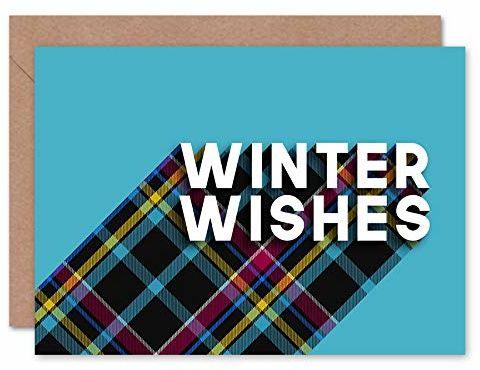 """Wee Blue Coo Kartka bożonarodzeniowa, z napisem """"Who Cares Scotland"""", z kopertą wewnątrz, jakość premium"""