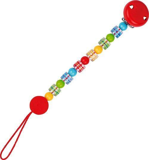 Łańcuszek do smoczka, Kosteczki w cętki, 732970-Heimess Baby Lifestyle, zabawki dla niemowlaków