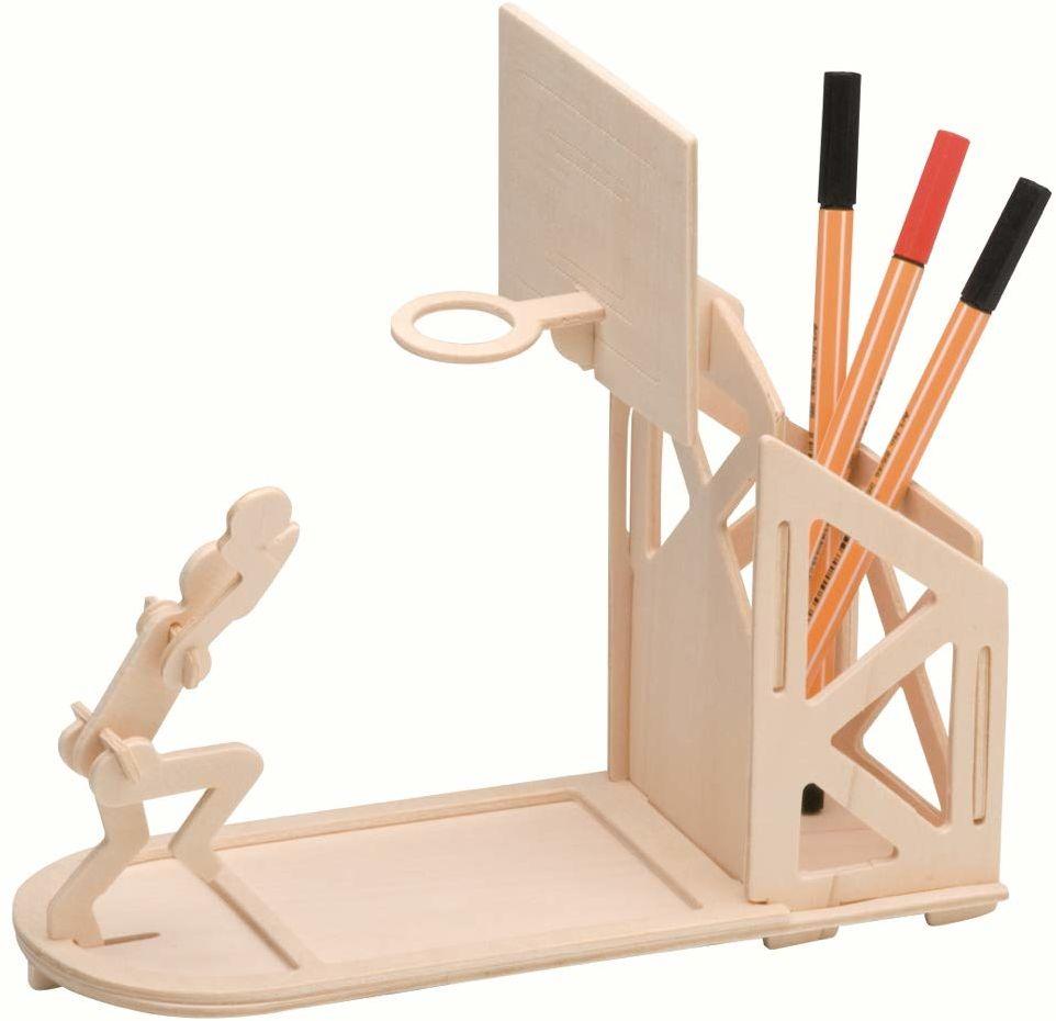 Pebaro 840/3 drewniany zestaw do montażu 3D puzzle stojak na długopisy koszykówka