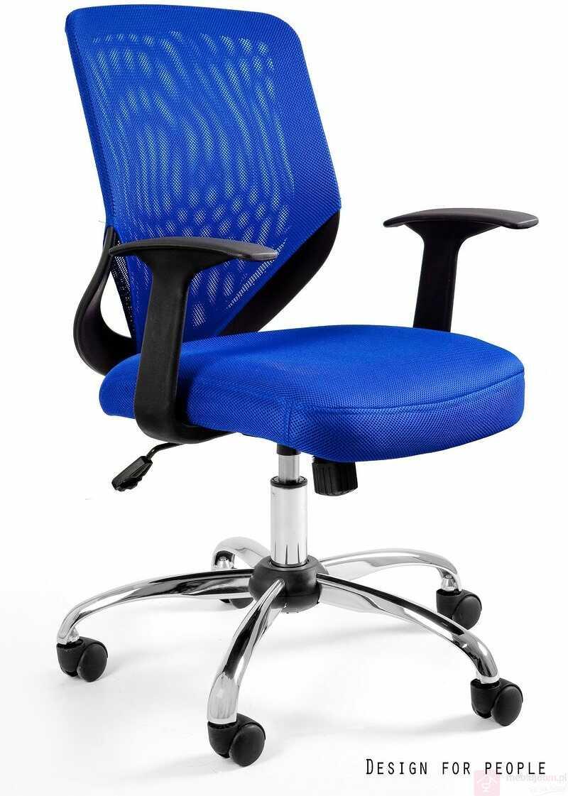 Fotel biurowy MOBI Unique Niebieski  RABAT na stronie!