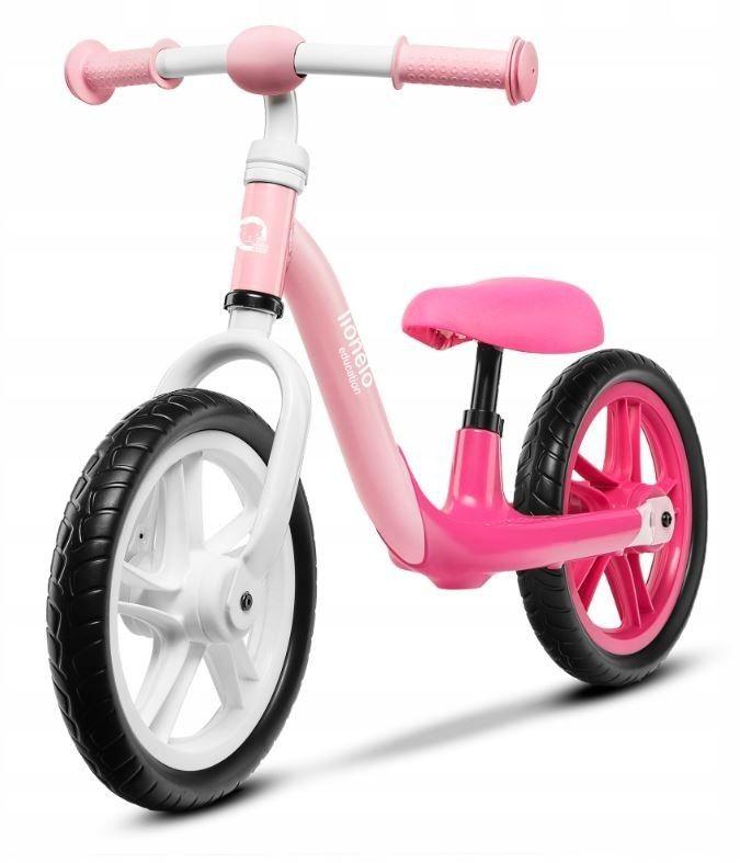 Lionelo Alex rowerek biegowy różowy