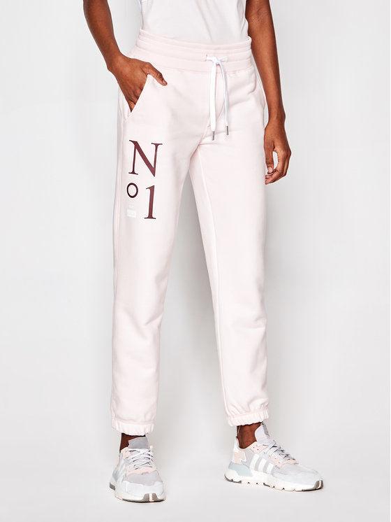 Spodnie dresowe No.1 PL-SP-MS-00025 Różowy Mister Fit