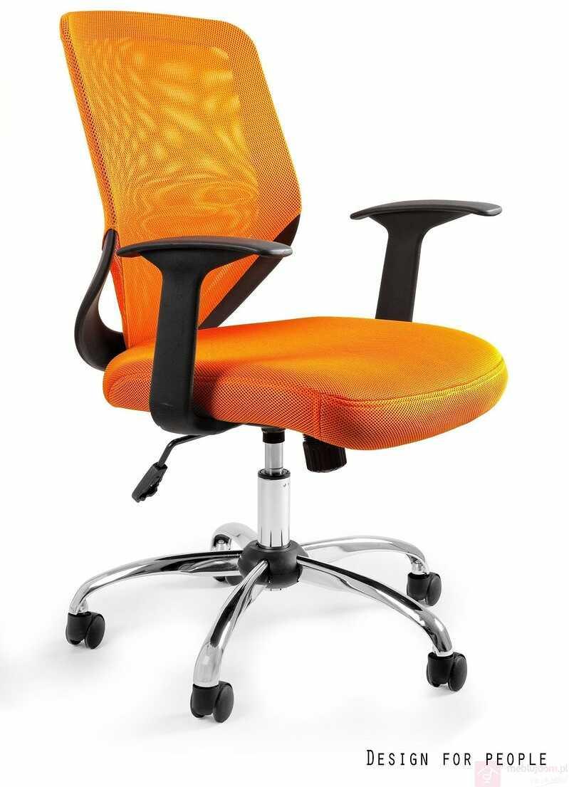 Fotel biurowy MOBI Unique Pomarańczowy  RABAT na stronie!