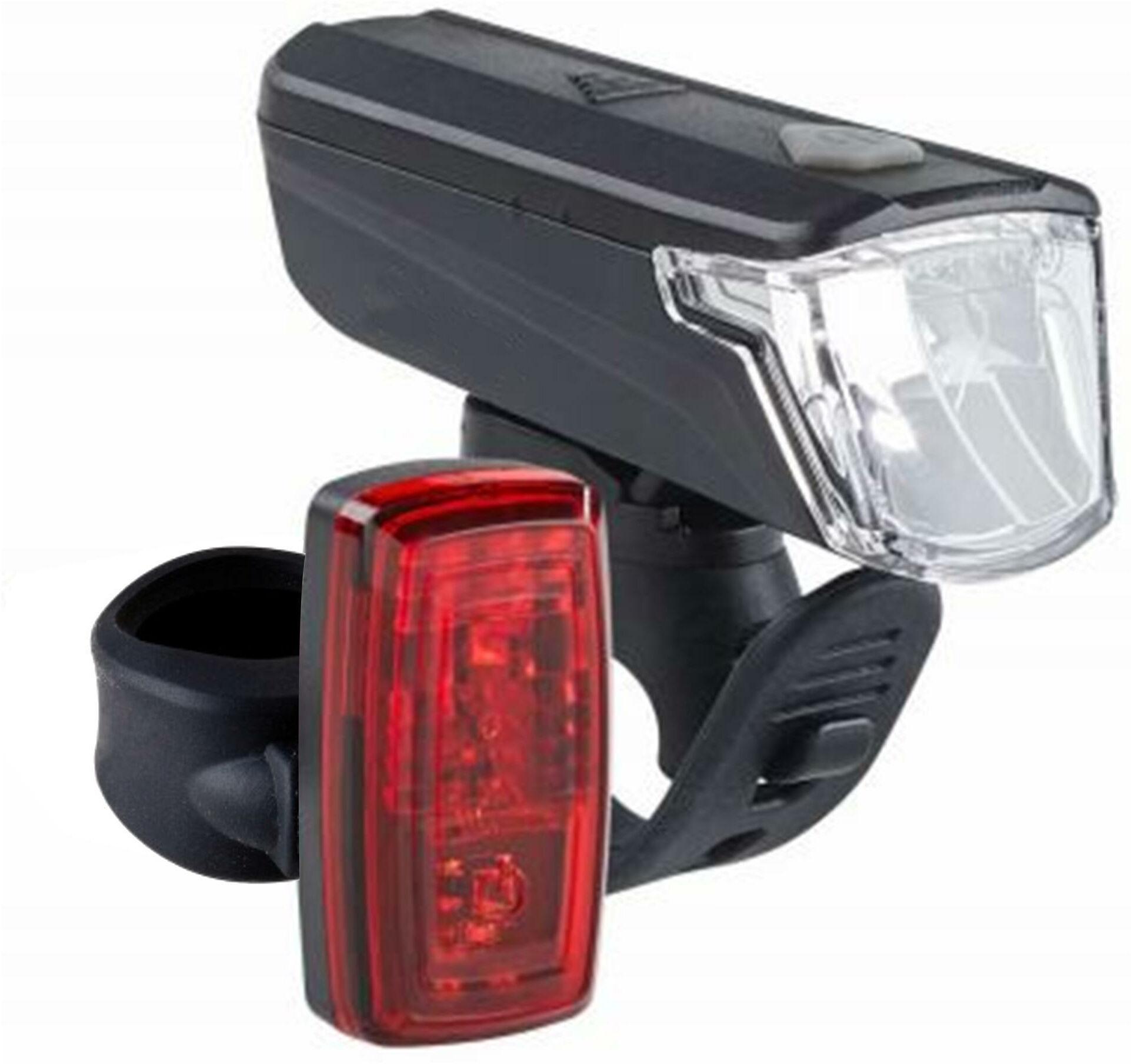 Zestaw Lampek Rowerowych St 110 Przednia/Tylna Na Baterie