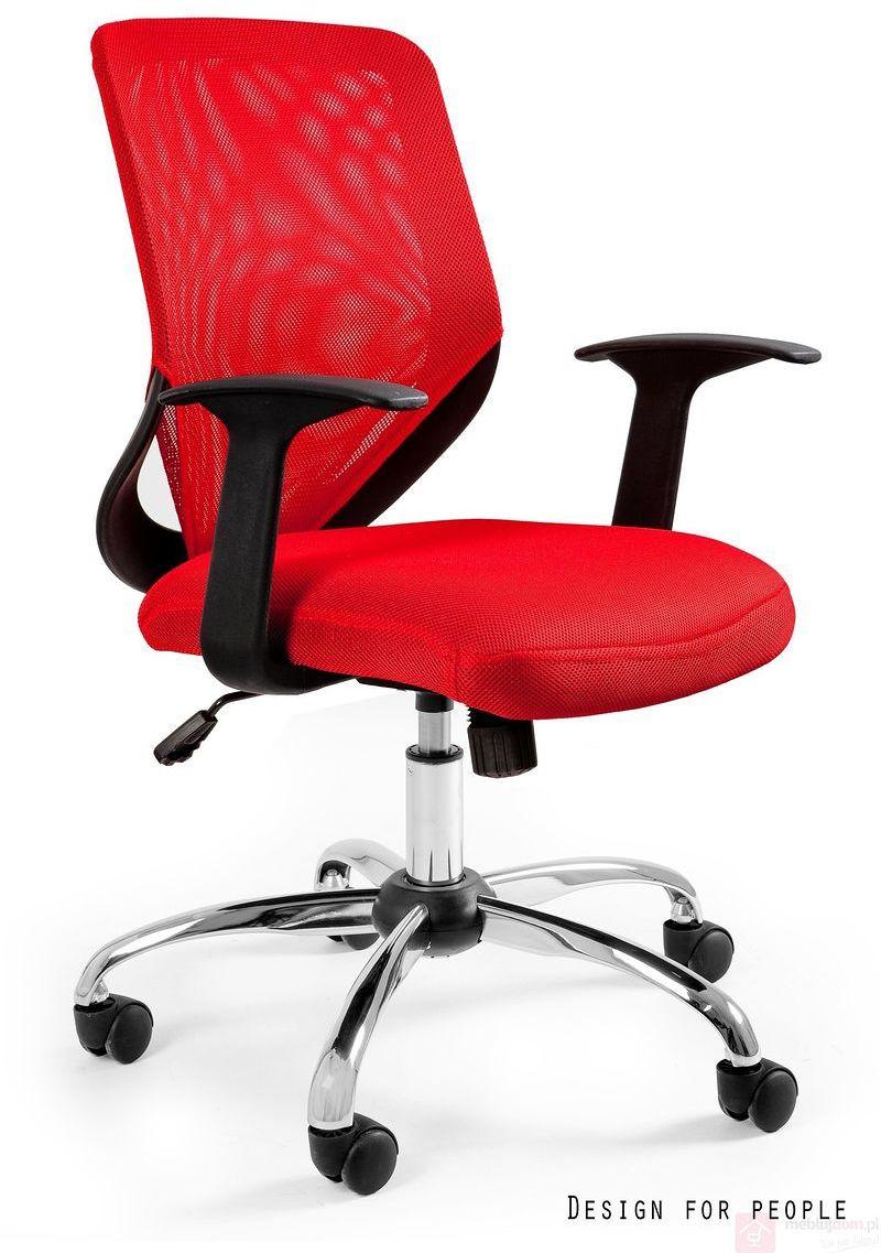 Fotel biurowy MOBI Unique Czerwony  RABAT na stronie!