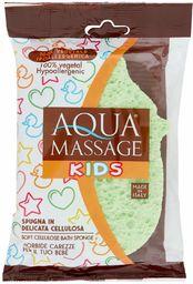 Pema  gąbka do masażu Aqua dla dzieci z czystej celulozy, modele i kolory sortowane