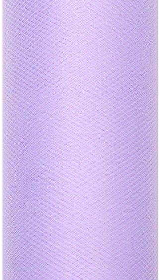 Tiul dekoracyjny liliowy 30cm x 9m 1 rolka TIU30-004
