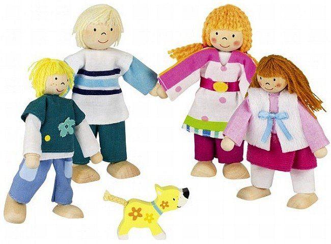 Miłośnicy zwierząt - lalki drewniane, 51582-Goki Susibelle, zabawki do domku dla lalek