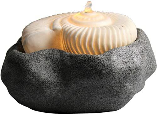 AM-Design Brunnen, piaskowiec, szary, biały, 28,5 x 28,5 x 17 cm