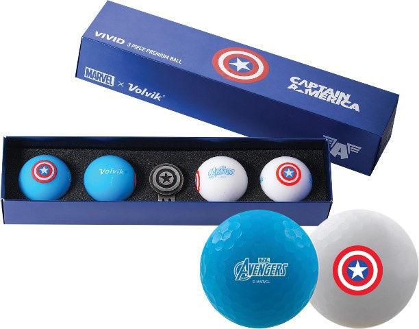 Piłki golfowe VOLVIK + MARVEL Capitan America