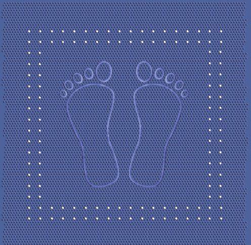 Kleine Wolke mata pod prysznic pod stopę, PCW, niebieski, 55 x 55 x 1 cm