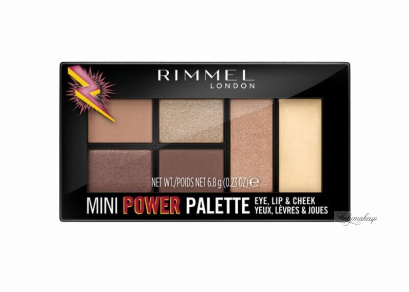 RIMMEL - MINI POWDER PALETTE - Mini paleta do makijażu oczu, ust i policzków - 001 FEARLESS
