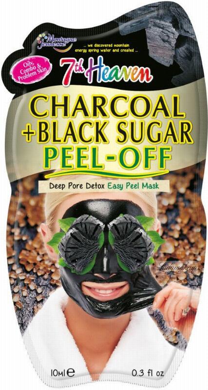7th Heaven (Montagne Jeunesse) - Charcoal + Black Sugar Peel Off Mask - Oczyszczająco-detoksykująca maseczka do twarzy z aktywnym węglem - Peel Off