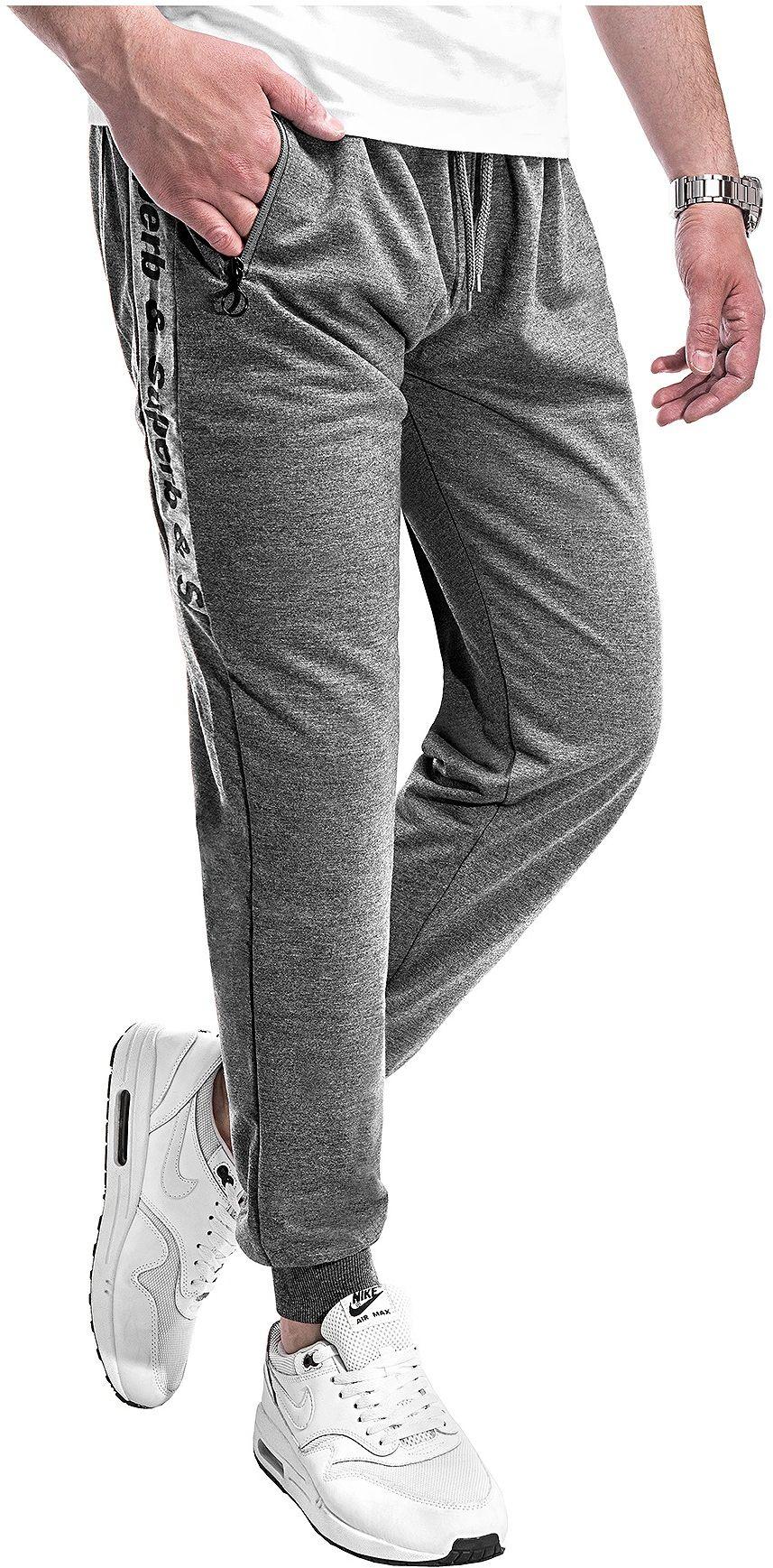Wyprzedaż joggery dresowe NH282 - antracytowe