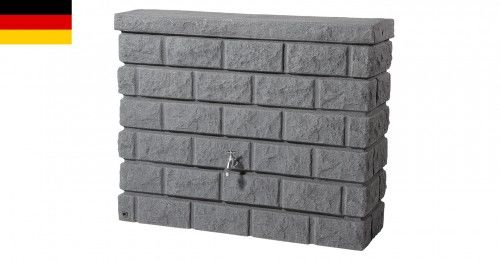 Zbiornik na deszczówkę przyścienny 400 L ROCKY dark granite