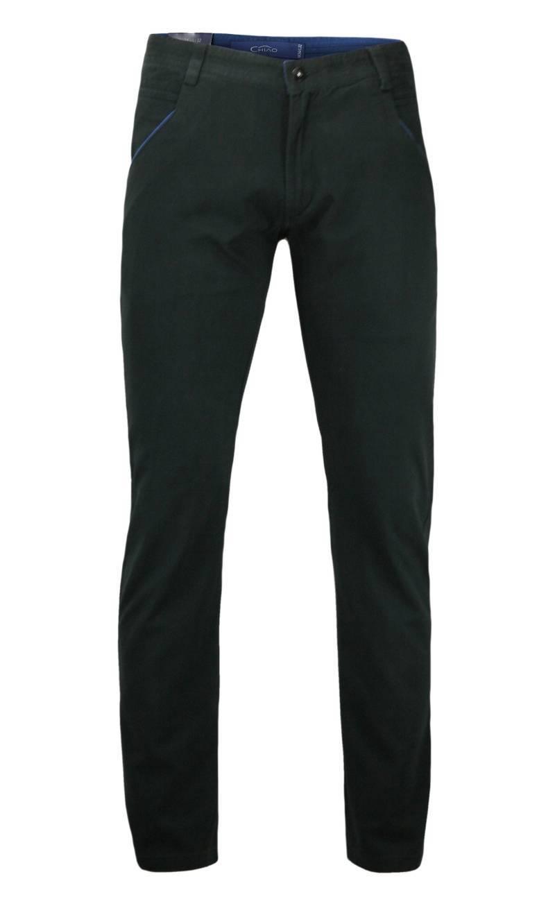 Spodnie Męskie, Chinosy, 100% BAWEŁNA, Kolorowe Wykończenia, Czarne SPCHIAO15M2C02czar
