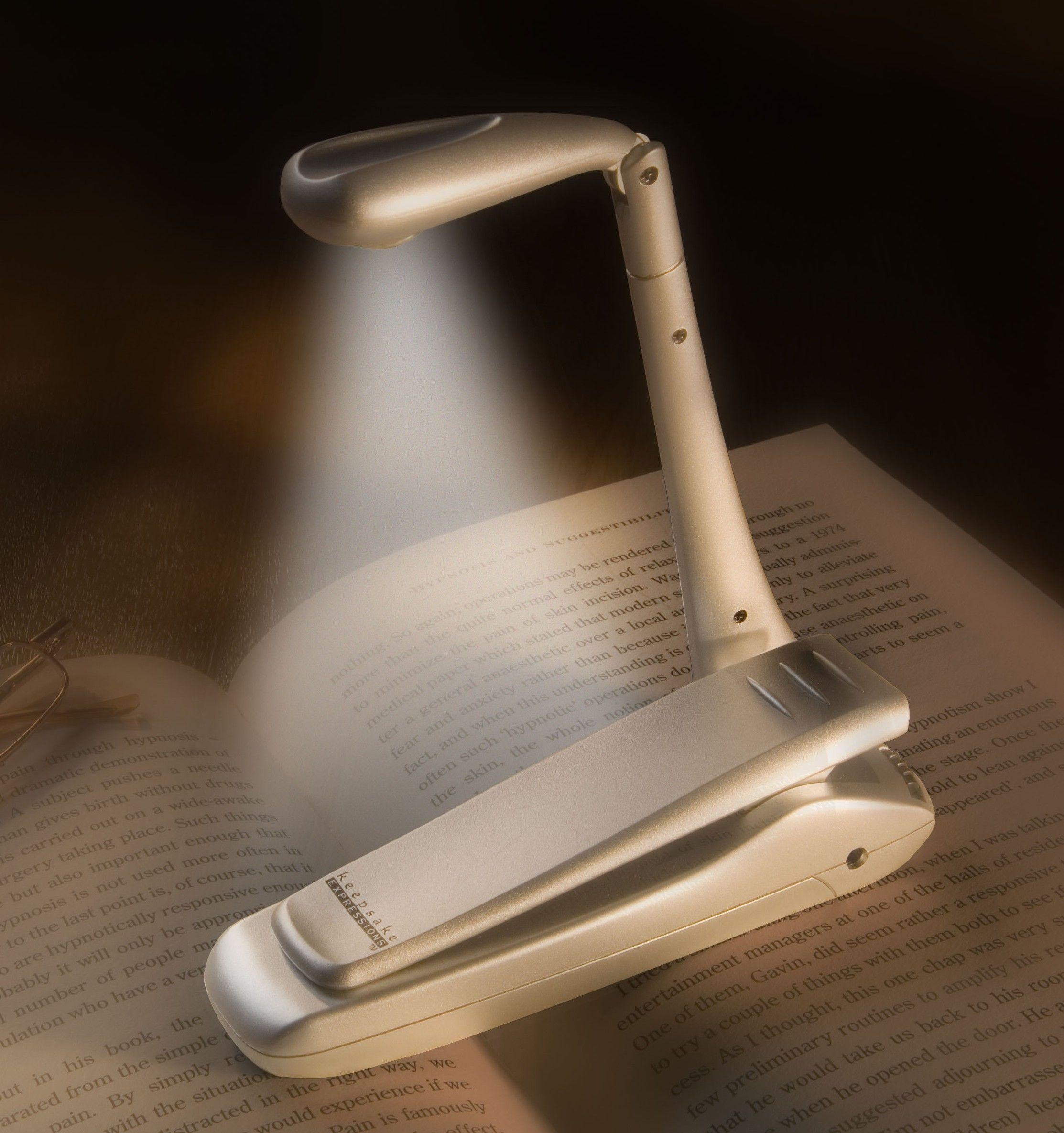 Lampka przypinana do książki Bookchair Clip-On LED Srebrna