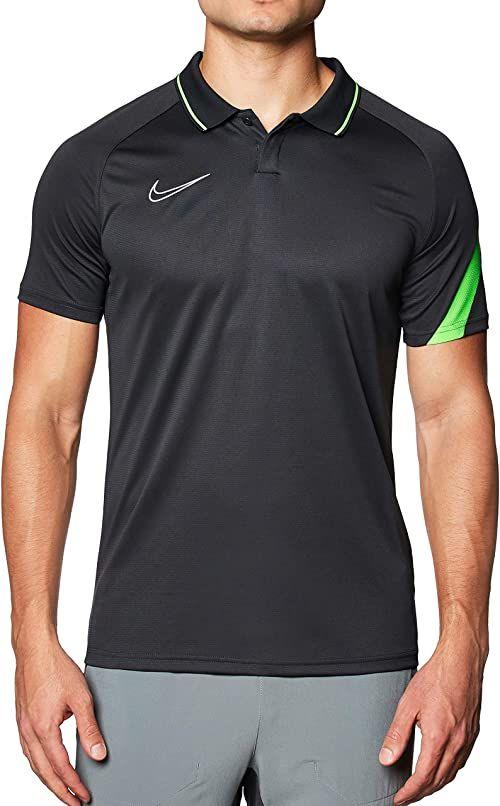 Nike Męska koszulka polo Academy Pro, antracytowa/zielona Strike/(biała), M