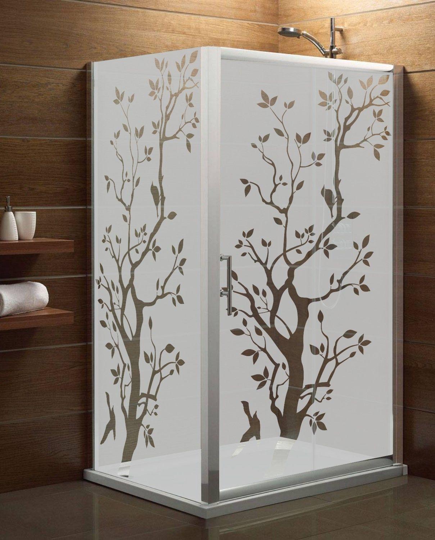 Maskująca naklejka mrożone szkło: Drzewo