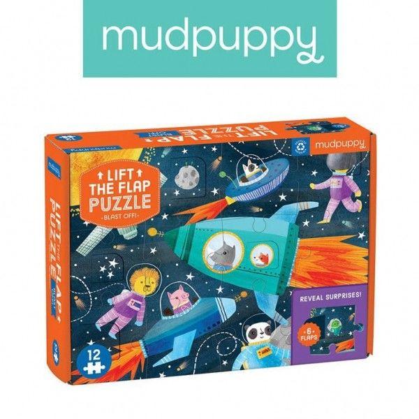 Mudpuppy Puzzle z Okienkami Kosmos 12 Elementów 2+