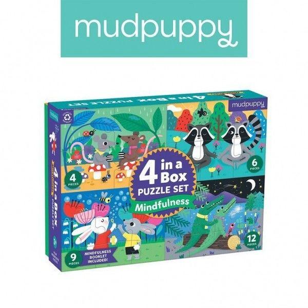 Mudpuppy Puzzle Progresywne uważność 4, 6, 9 i 12 Elementów 2+